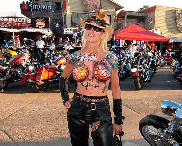 2014 Sturgis Motorcycle Rally Body Paint