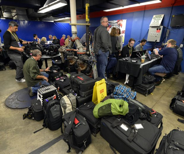 Our photo work room, located across the hall from the Cubs locker room was quite spacious as compared to our accommodations at Wrigley Field.